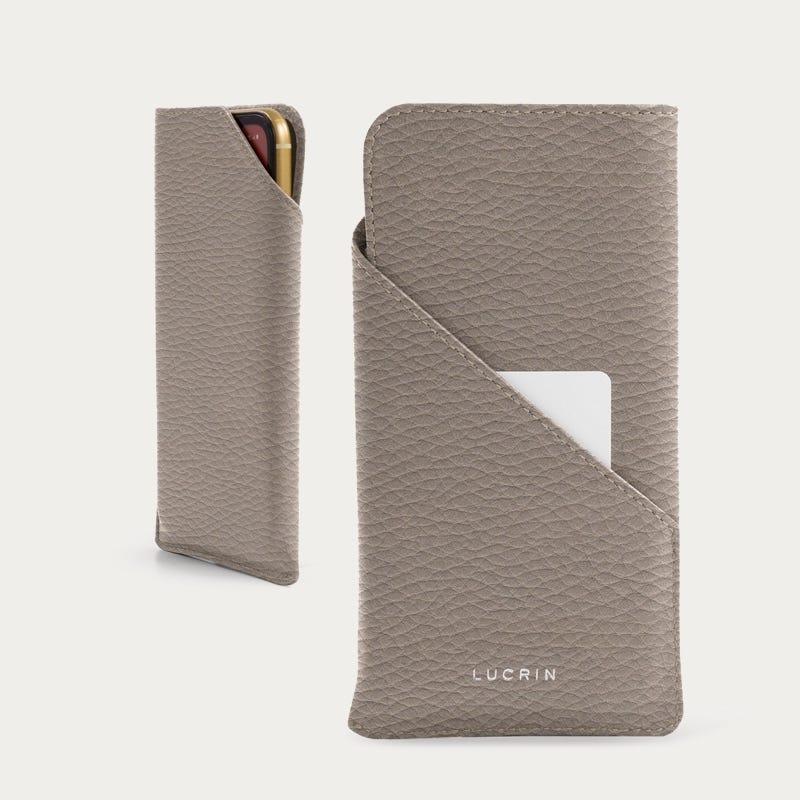 Designer-kotelo iPhone 11 Pro -puhelimelle - Vaalea ruskeanharmaa - Pintanahka