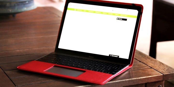 MacBook-suojakotelo - Punainen - Pintanahka