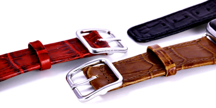 Elegantti Apple Watch Series 5 kellonranneke - (44 mm) - Kameli - Krokotyylinen vasikannahka